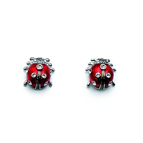 Ladybug weiß with Crystals from Swarovski