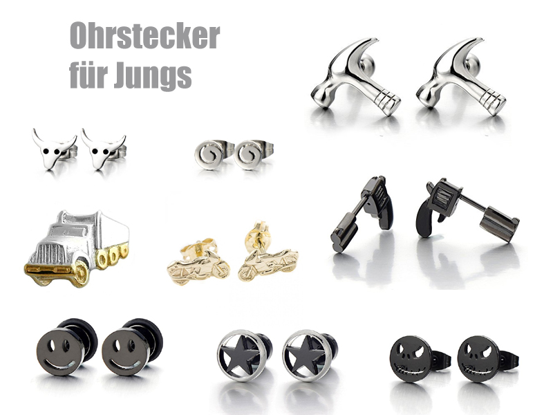 ohrstecker f r jungs. Black Bedroom Furniture Sets. Home Design Ideas