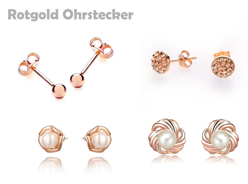 Ohrstecker Rotgold