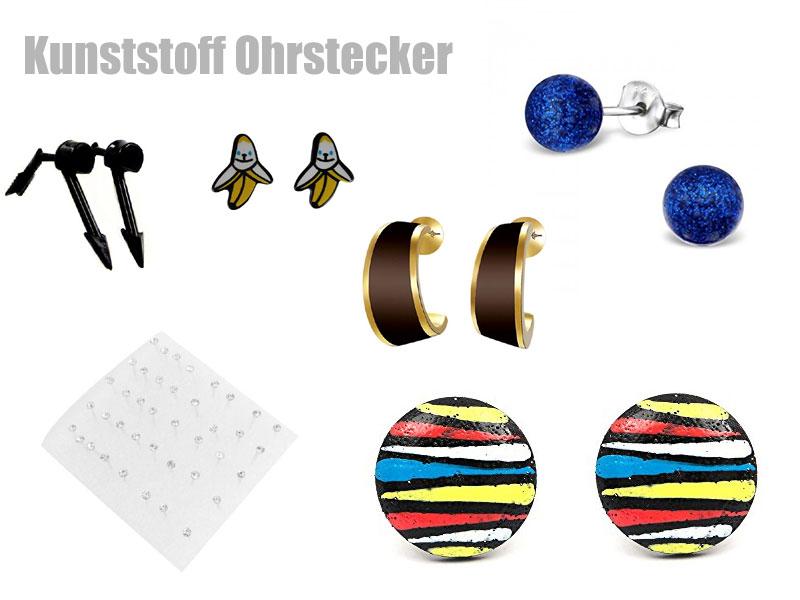 Plastik Ohrstecker
