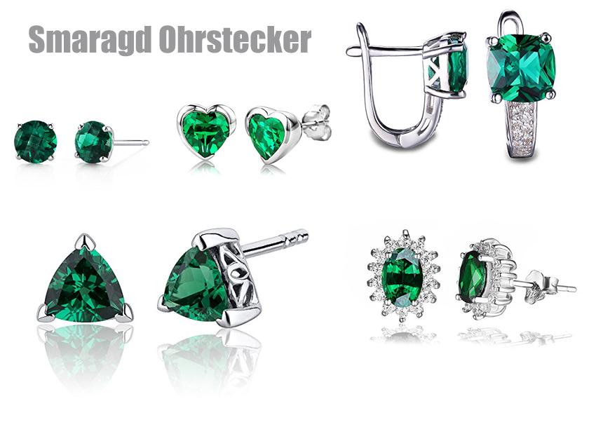 Ohrstecker gold smaragd
